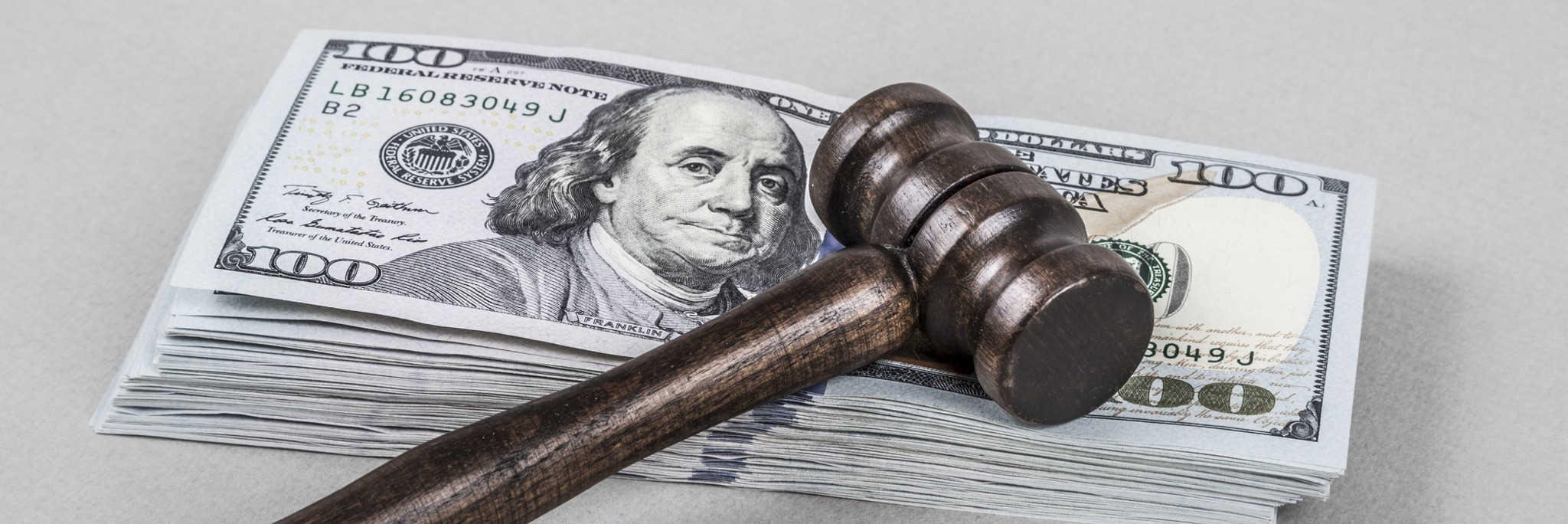 picture of money and gavel
